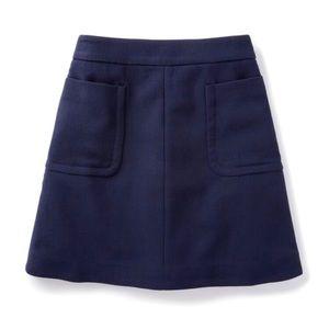 Boden Julia Patch Pocket Wool Skirt